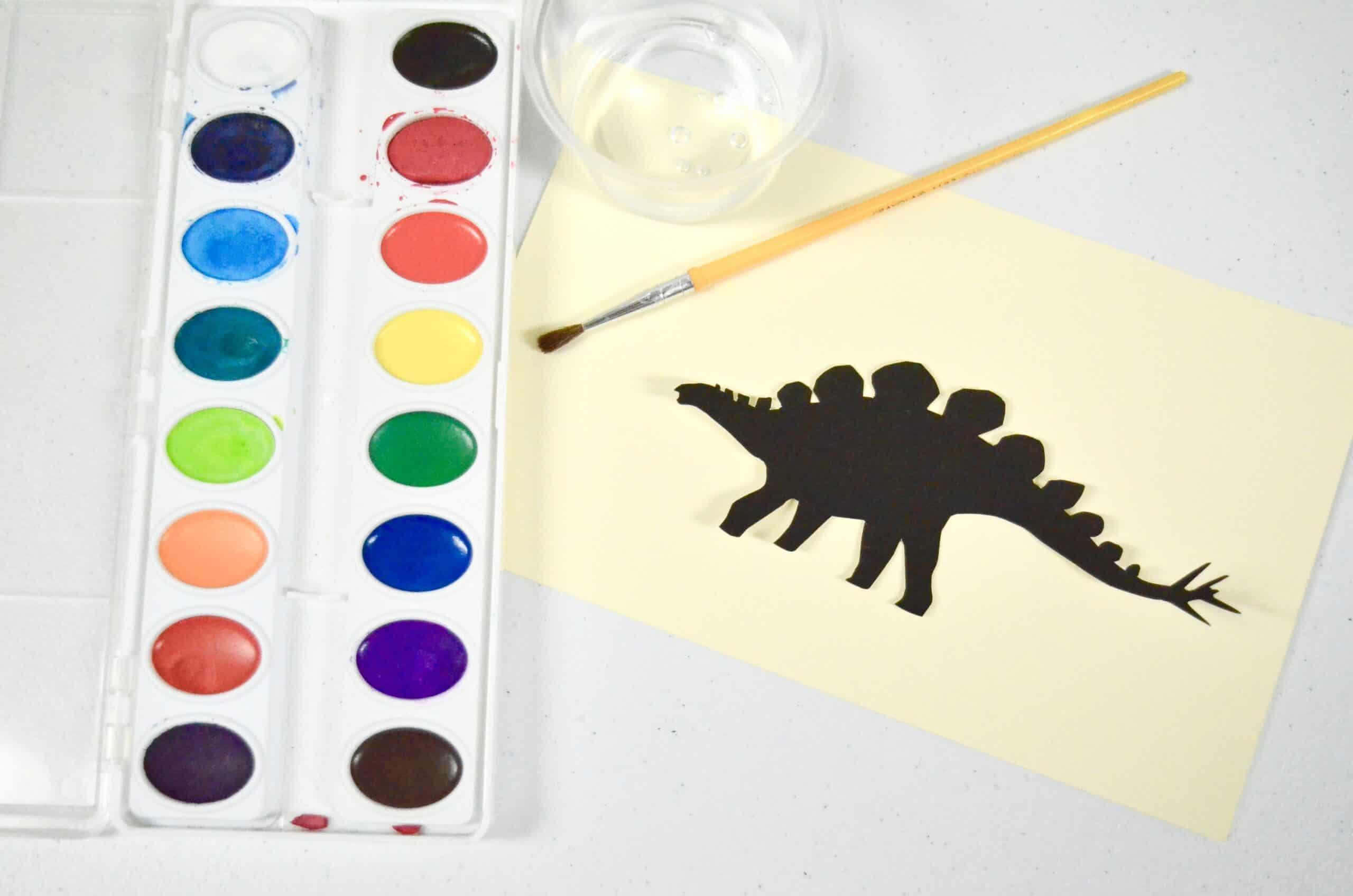 4 Dinosaur Art Activities For Kids Silhouette Sensory Idea