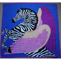 "51"" Silk Twill Scarf Pegasus in Royal Blue - Susan After ..."