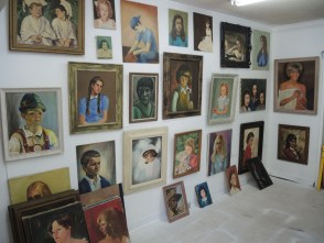 Just one of the many walls filled with portraits