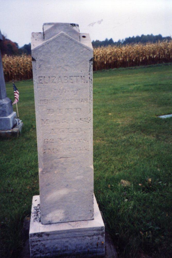 Henry Sherman, Elizabeth (Thrash) Sherman Gravestones (4/4)