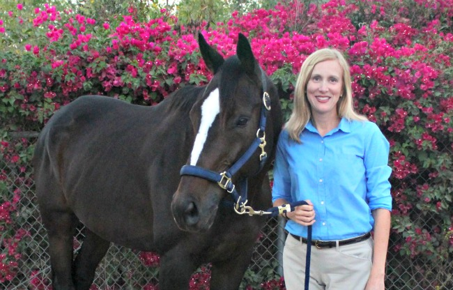 Susan Friedland-Smith and her new horse Tiz A Knight
