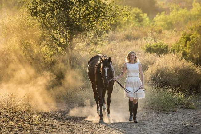 A girl and her horse. Photo credit: Carolyn Rikje Photography