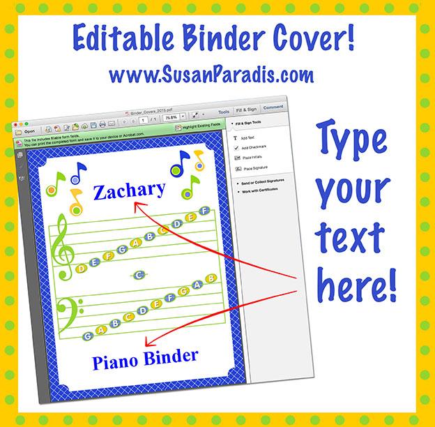 Personalize Your Binder Covers An Editable PDF - Susan Paradis