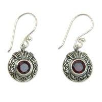 Perfect under $25 gift? NOVICA's Sterling & Garnet earrings!