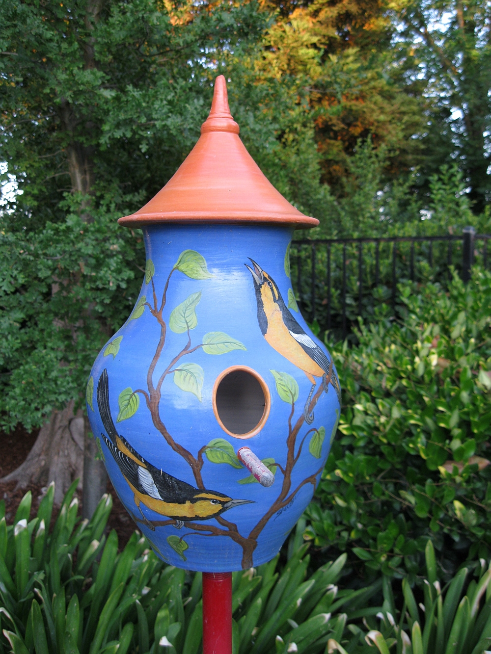 Garden Chairs Susan Shelton, Ceramic Artist - Bird Houses