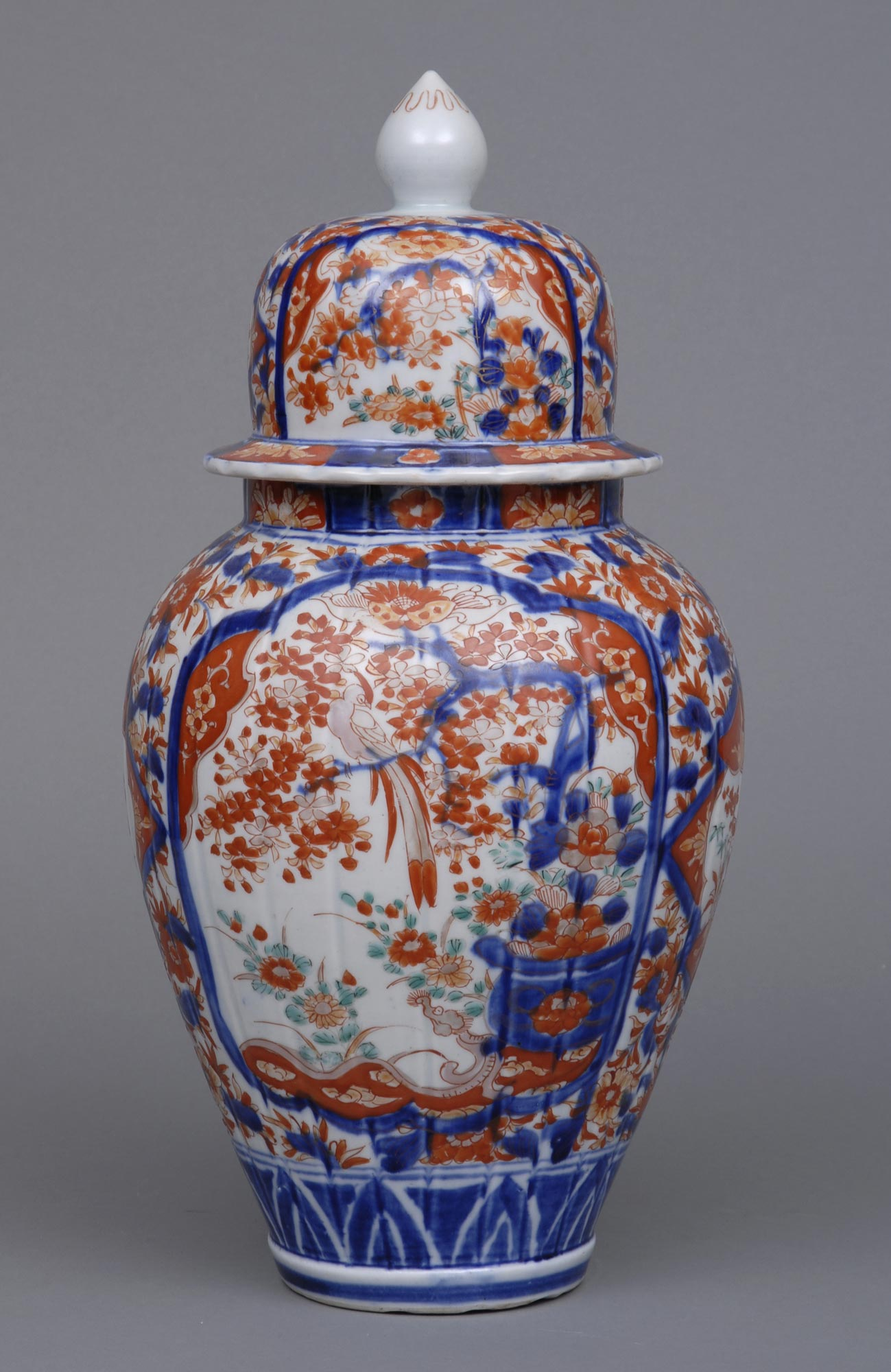 Base Cabinets Early Japanese Imari Vase And Lid, Circa 1720