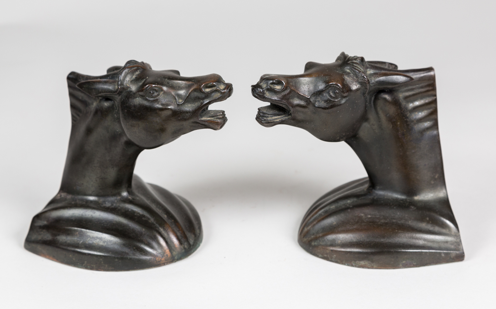 Classic Bookends Pair Vintage Horse Head Bookends