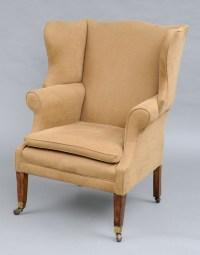 Antique Georgian Wing Chairs | George III Mahogany & Ash ...