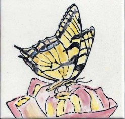 Tiger Swallowtail tile by Susan Sternau