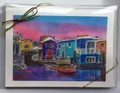 Sausalito Houseboats Card Box front by Susan Sternau