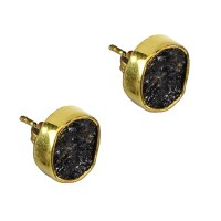Tallulah Stud Earrings Black Tourmaline