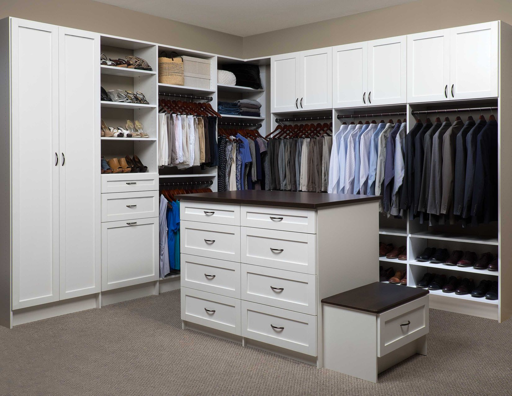 Walkin Closet Cabinets Custom Walk In Closet Designs Lancaster Pa Susquehanna Garage