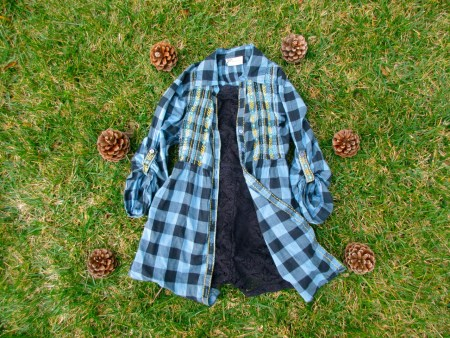 sustainable daisy thrifted flannel ecofashion ethical fashion ootd sustainability thrifting