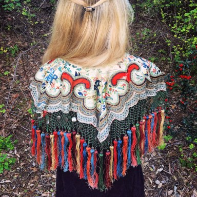 antique caplet capelet vintage fashion sustainable daisy sustainability ecofashion ethical