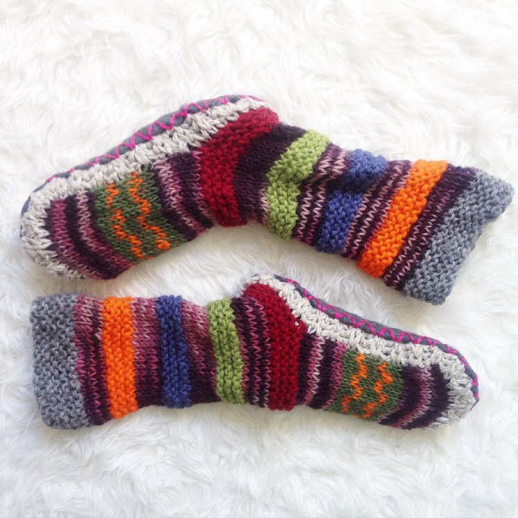 wool slippers socks fuzzy warm handmade wellmade well made hand tibetan fall essentials sustainable ethical fashion ecofriendly