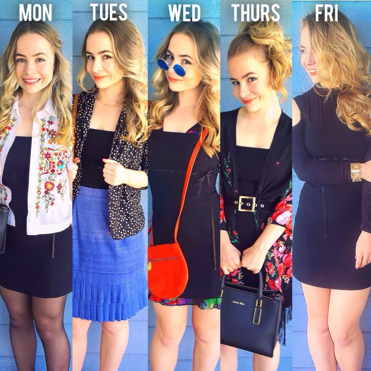 fashion revolution one dress 5 days week same outfit lookbook capsule wardrobe sustainable fashion ways five