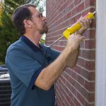 Caulking outside
