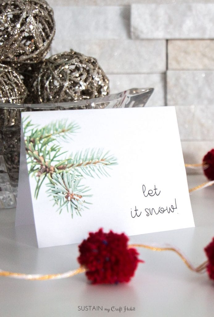December\u0027s Free Winter Printable Greeting Card Template \u2013 Sustain My