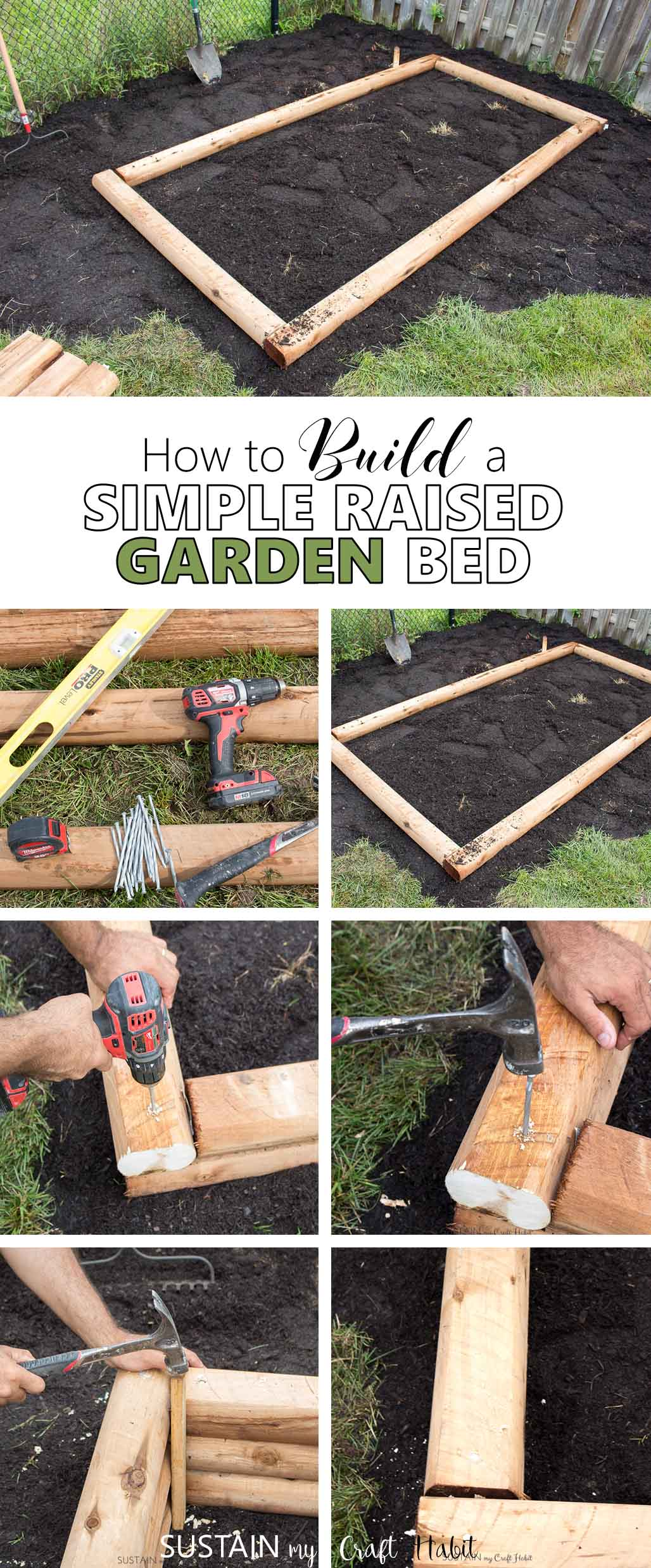 Instructions For Making Raised Garden Beds How To Build A Simple Raised Garden Bed Also Known As A