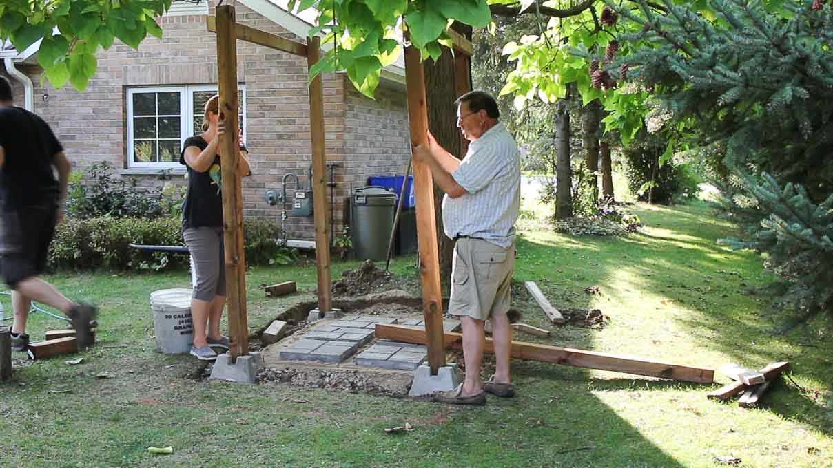 Backyard Shower Diy Outdoor Shower Enclosure For The Cottage Sustain My Craft Habit
