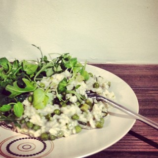 Courgette, Asparagus, Pea and Mint Risotto