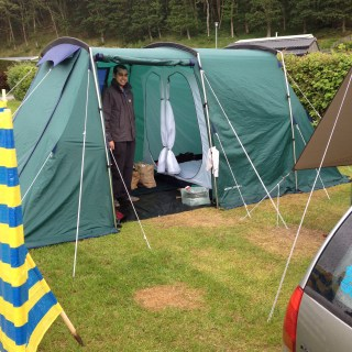 Camping in the hills of Abersoch