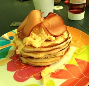 Vegetarian American Pancake Stack