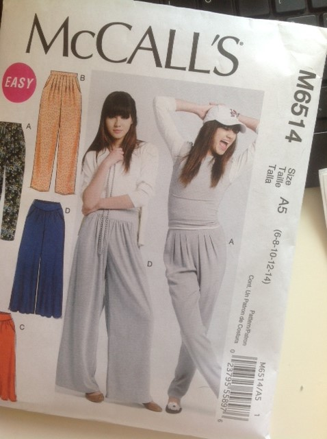 Susty Meals - McCall's Trouser Pattern M6514