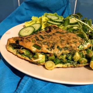 Green Omelette and Green Salad