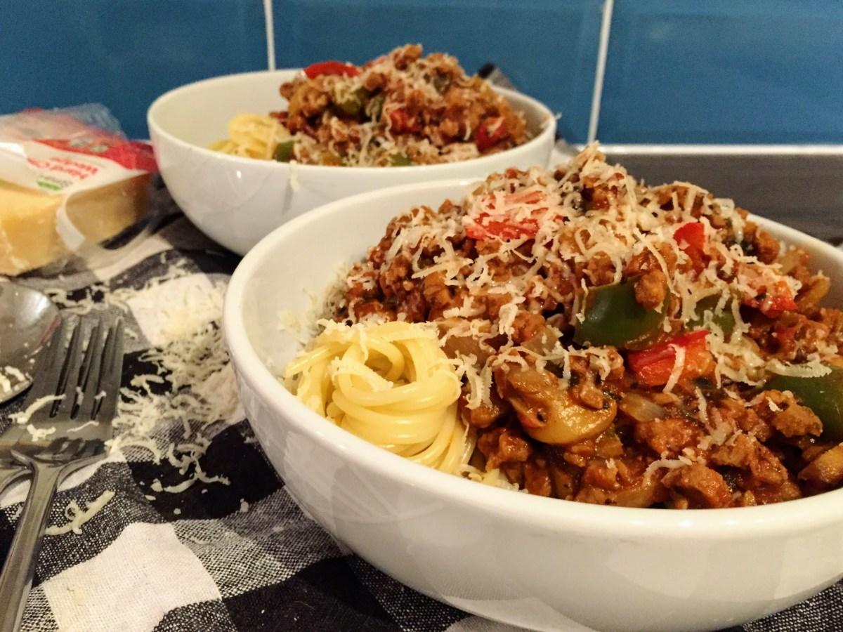 Chunky Veggie Spaghetti Bolognese