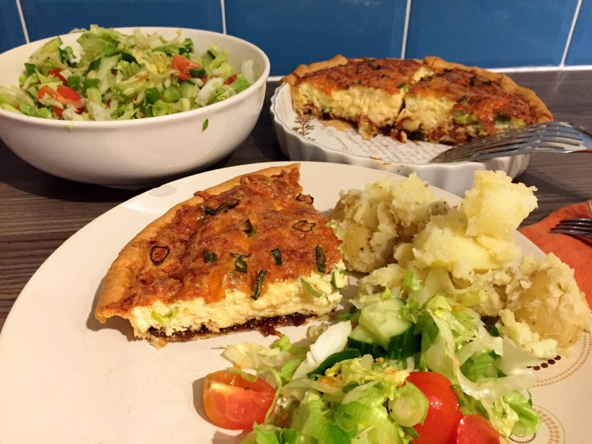 Cheese and Pickle Quiche (with Branston of course!)