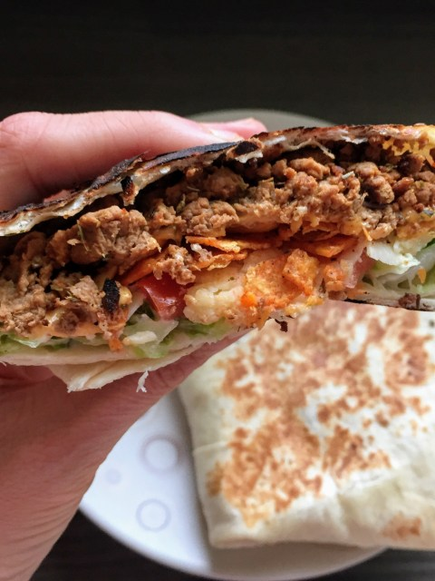 Copycat Veggie Taco Bell Crunchwrap Supreme | Copycat Recipes | Vegetarian recipes | Susty meals | Sarah Irving | Food Blogger Manchester UK | #VegItUp