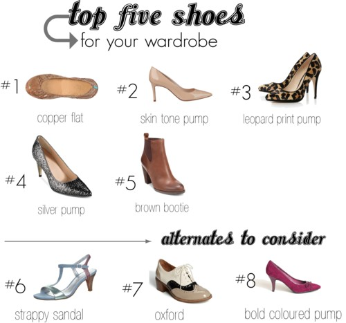 Top Five Shoes For Your Wardrobe