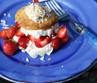Best Ever Coconut Strawberry Shortcake Scones Recipe
