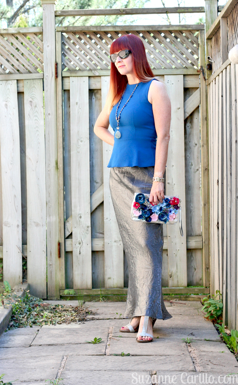 how to make your own altered floral clutch for summer