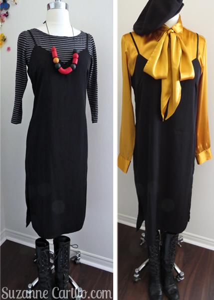 slip dress styled seven ways over 40 style for women suzanne carillo