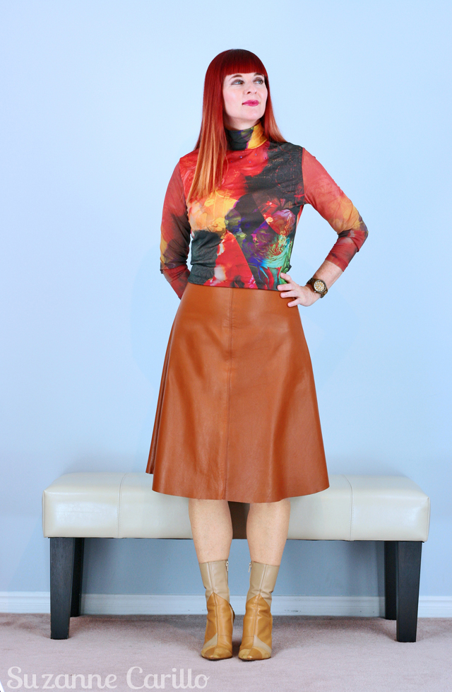 bold colorful fall style for women over 40 suzanne carillo