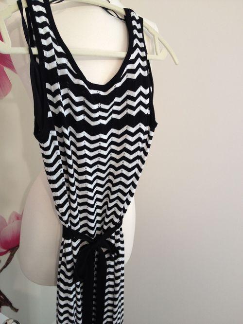 Chevron maxi knit dress