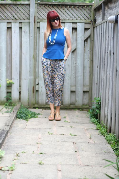 How a peplum can make you look thin how to wear harem pants suzanne carillo style files