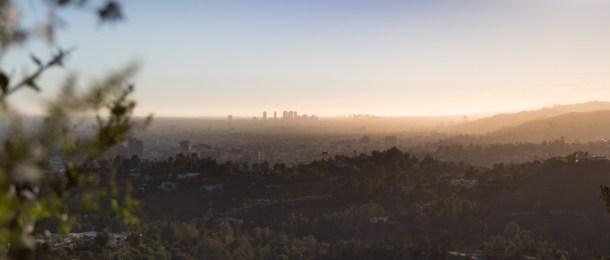 Panorama of Los Angeles, west toward Century City