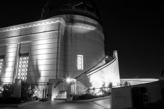 Griffith Observatory, west at night