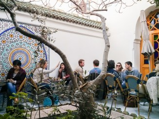 Patio at Paris Grand Mosque Tea Room