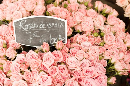 Roses at Paris Flower Market
