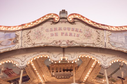 children's carousel in Paris