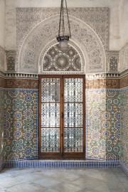 Ornate carvings in portico