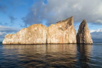Sunshine illuminates Kicker Rock