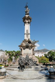 Independence Monument in Plaza Grande, Quito, Ecuador
