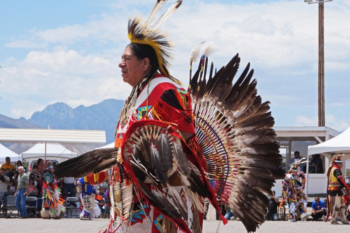 Pow-Wow ceremonial wear, procession