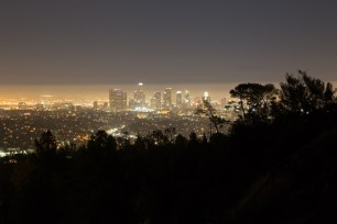 Downtown LA at night from Griffith Observatory