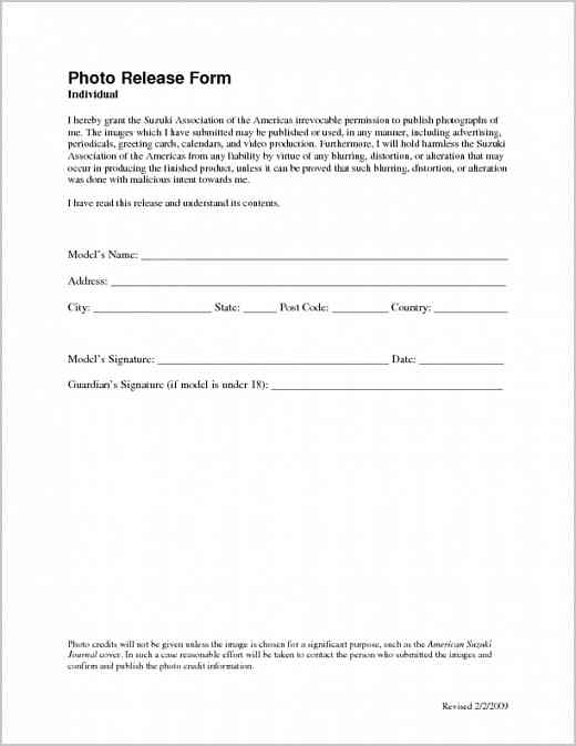 Permission and Release Form Media Suzuki Association of the Americas